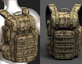 3D asset Backpack military combat soldier armor scifi