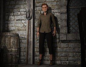 3D asset Fantasy Tavern Stable Boy - Fantasy Clothing