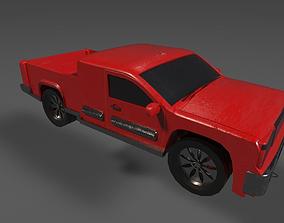 Red Pickup Truck 3D asset