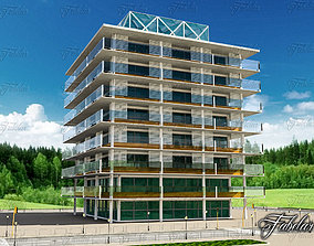 Building 31 and environment 3D asset