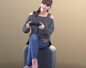 Lisa 10726 - Playing Kid 3D asset