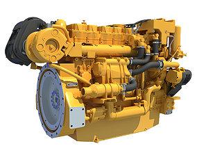 3D model Industrial Diesel Engine