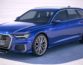3D model Audi A6 Avant S-line 2019