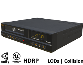 3D model Game-ready Vintage VHS Recorder