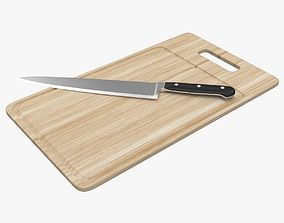 3D model Chopping Board and Knife