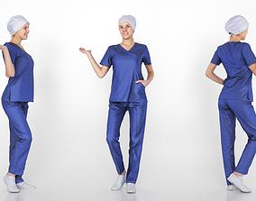 Surgical nurse 04 3D asset