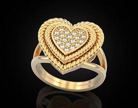 Big Heart Ring 3D printable model