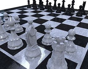 3D model game-ready Chess Set knight