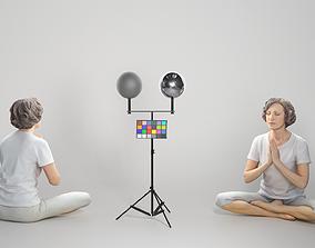 3D asset Woman in sportswear doing yoga 303