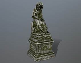 3D asset game-ready statue 1