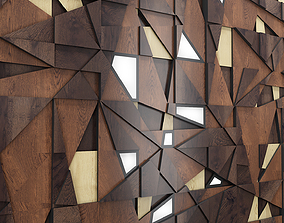 Decor backlit wood panel 3D model