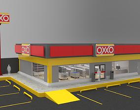 3D model convenience Oxxo - Convenience Store