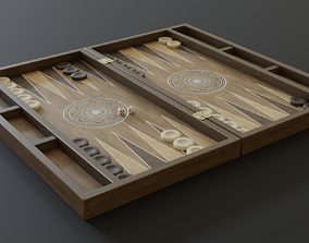 3D model VR / AR ready Backgammon