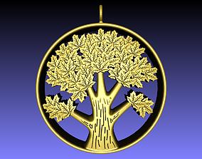 3D printable model nature Tree Pendant