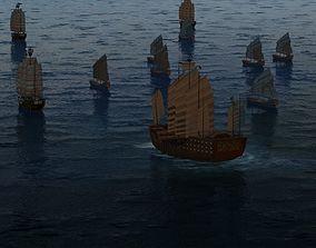 Zheng He fleet 3D model