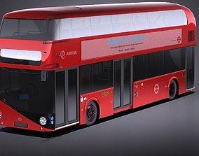 London Bus lt2 arriva vray 3D model