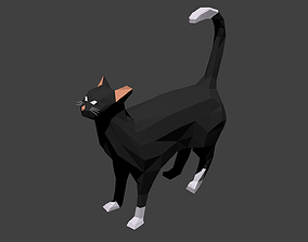 3D model LOWPOLY BLACKCAT