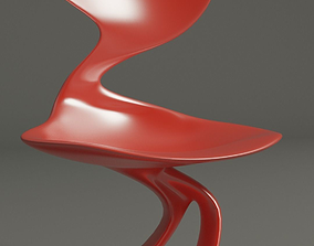 3D printable model Organic curved chair