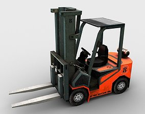 Forklift Truck Low Poly 3D asset game-ready