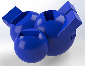 3D print model USB Holder in form of three connected balls