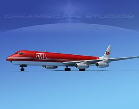 3D model Douglas DC-8-63F DHL Cargo 2