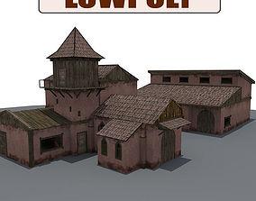 3D model Old Farm Building3