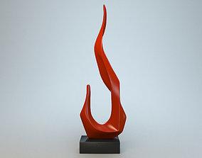 Sculpture Flame P 3D print model