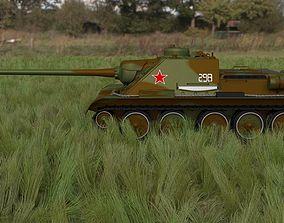 3D model SU 100 Tank Destroyer HDRI Camo