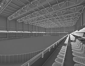 Ice Hockey Arena Interior 3D asset