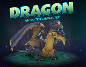 3D asset Dragon animated character