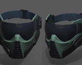 Scifi mask fantasy futuristic technology space 3D asset 1