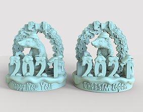 gift rat for new year 2021 3D print model