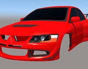 3D printable model Mitsubishi Evo8 GT