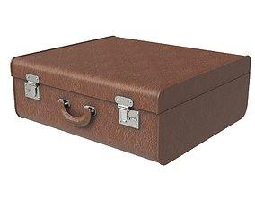 3D model Brown travel suitcase