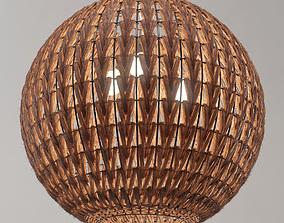 3D Spherical wicker chandelier Odeon Light Keni