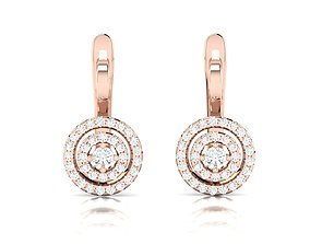 Women earrings 3dm render detail silver printable