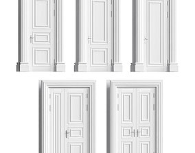 Classic doors set 3D model