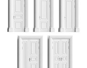 Classic doors set 3D model