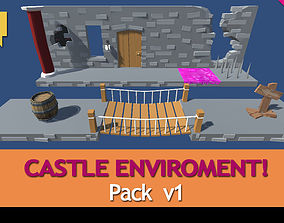3D model Castle Pack enviroment