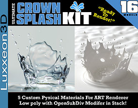 3D asset Ultimate Crown Splash Kit