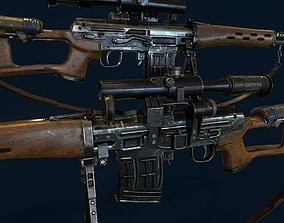 3D model SVD - Dragunov Sniper Rifle