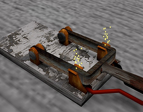 3D model Electric Chair Switch with Sparks