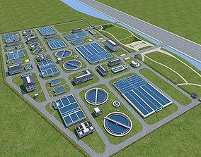 Sewage Water Treatment Station 3D