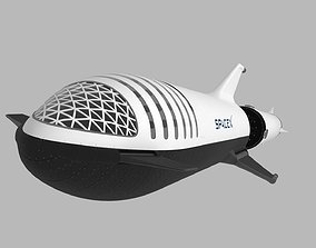 Big Falcon Rocket - BFR - 2019 - SpaceX - Spaceship 3D