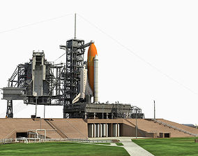 3D model Animated KSC Launch Complex 39-A