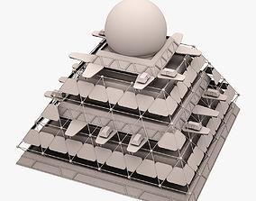 3D Futuristic Pyramid