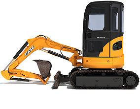 3D model Yellow Mini Excavator Case
