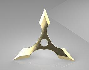 Ninja Star 3 blades Double sided 3D printable model 2