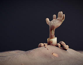 3D model game-ready Zombie Hand