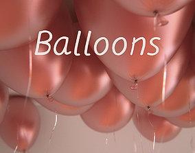 25 air balloons 3D model